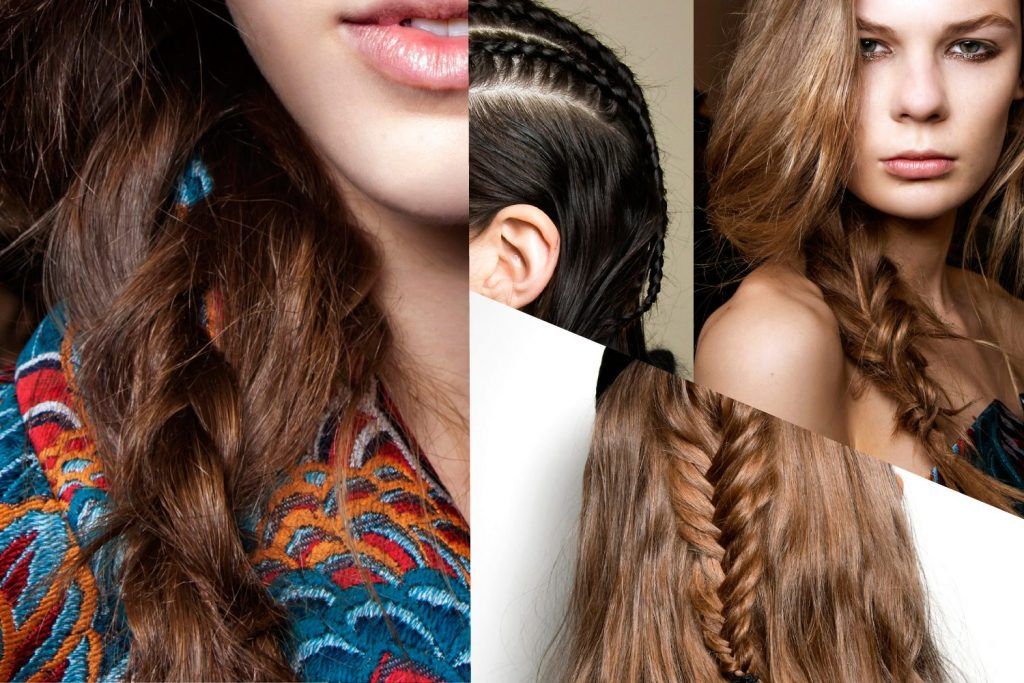 sette opp halvlangt hår